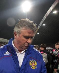Гус Хиддинк после поражения в Мариборе. Фото РИА Новости, Илья Питалев