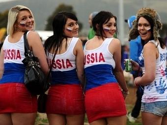 Болельщицы сборной России. Фото (c)AFP