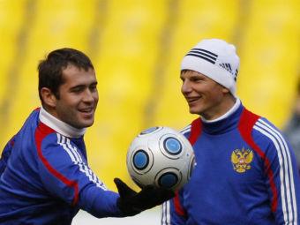 Александр Кержаков (слева) и Андрей Аршавин. Фото РИА Новости, Алексей Куденко