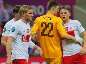 Игроки сборной Польши в матче с греками. Фото РИА Новости, Виталий Белоусов
