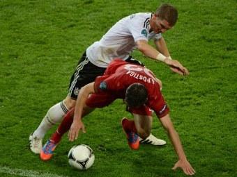 Эпизод матча Германия - Португалия. Фото (c)AFP