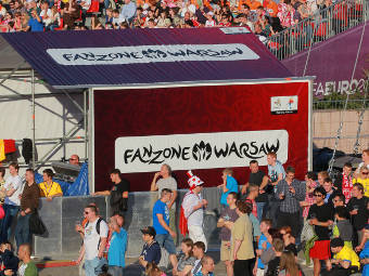 Болельщики в Варшаве. Фото РИА Новости, Виталий Белоусов