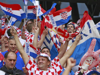 Болельщики сборной Хорватии. Фото РИА Новости, Антон Денисов
