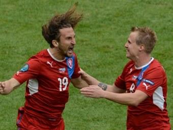 Футболисты сборной Чехии. Фото (c)AFP