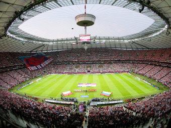 """Стадион """"Национальный"""" в Варшаве. Фото Reuters"""
