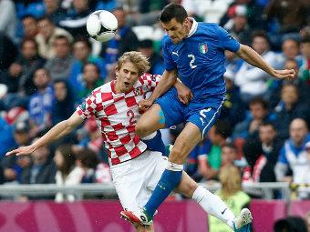 Эпизод матча Италия - Хорватия. Фото Reuters