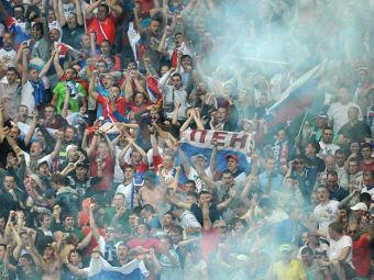 Российские болельщики во время матча с Польшей. Фото РИА Новости, Владимир Песня