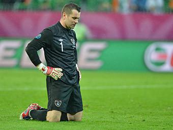 Вратарь сборной Ирландии Шей Гивен. Фото (c)AFP