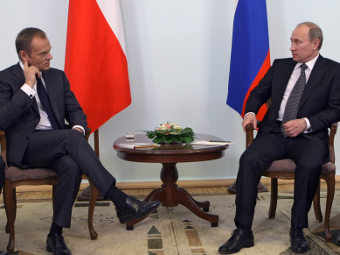 Дональд Туск и Владимир Путин. Фото РИА Новости, Алексей Никольский