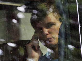 Андрей Аршавин в автобусе сборной России. Фото РИА Новости, Антон Денисов