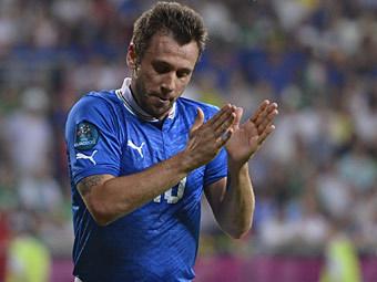 Антонио Кассано в матче Италия - Ирландия. Фото (c)AFP
