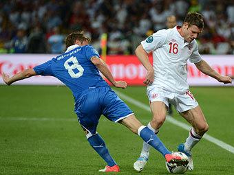 Эпизод матча Англия - Италия. Фото (c)AFP