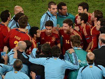 Сборная Испании. Фото (c)AFP