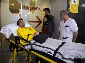 """Давид Вилья после матча с """"Аль-Саддом"""", в котором он получил травму. Архивное фото (c)AFP"""