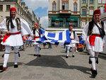 Греческие болельщики во Вроцлаве. Фото (c)AP