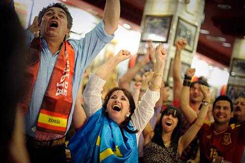 Вот так сейчас в Испании. Фото (c)AFP